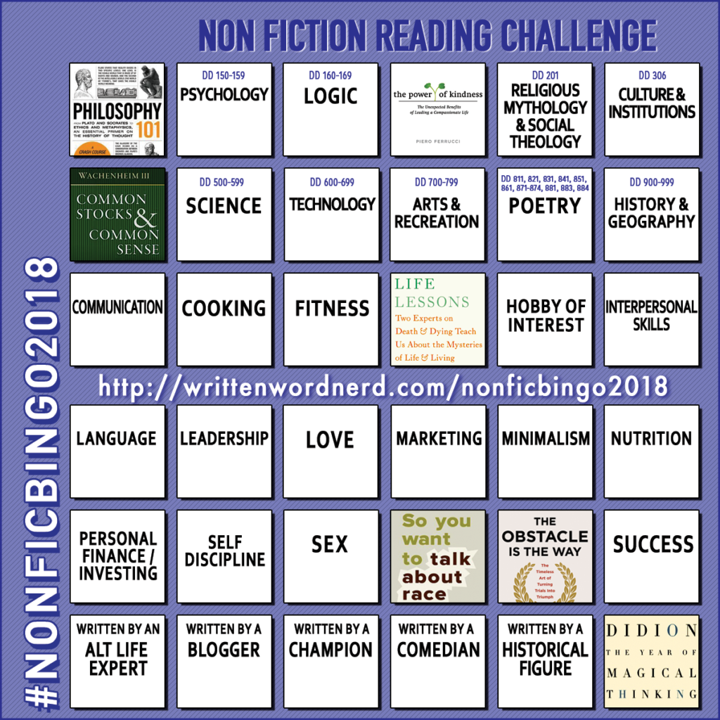 nonfiction bingo 2018 the year of magical thinking