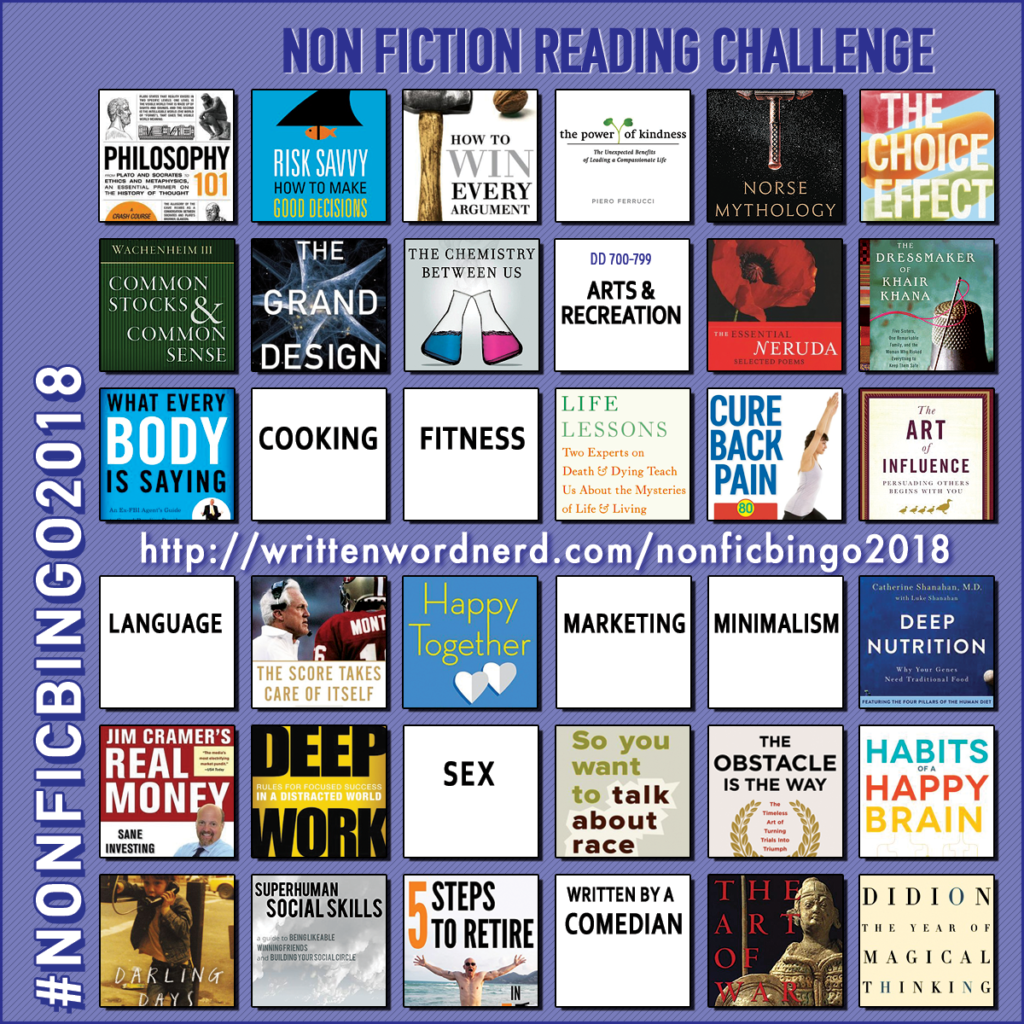 nonfiction bingo 2018 what every body is saying
