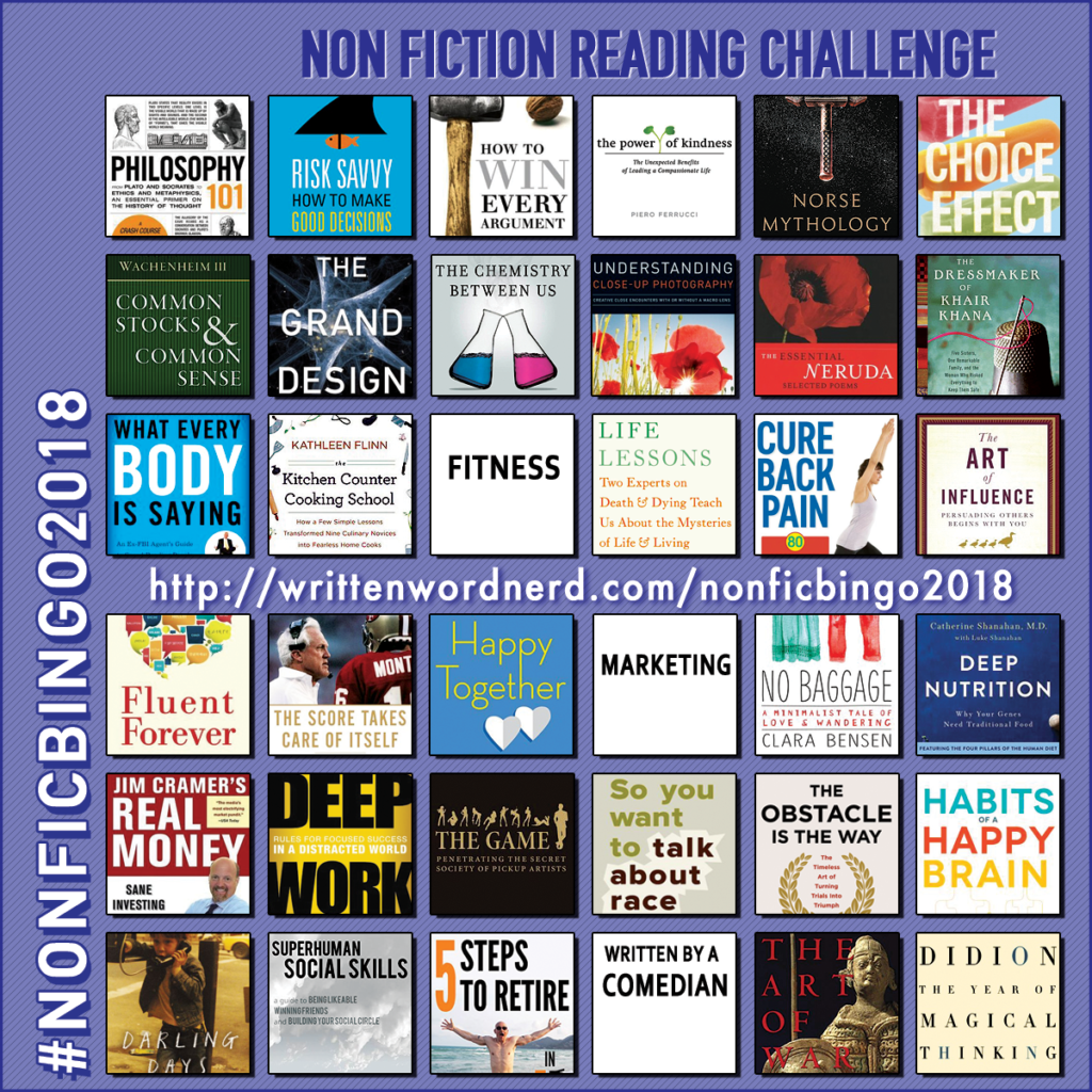 nonfiction bingo 2018 kitchen counter cooking school